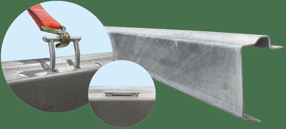 Bodenrahmen für Zurrbügel
